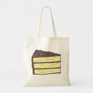Piece of Cake Yellow Chocolate Layer Slice Tote Budget Tote Bag
