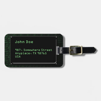 Piece of information luggage tag