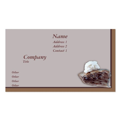 Piece of pie business card template