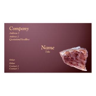 Piece of pie business card template