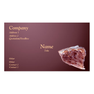 Piece of pie pack of standard business cards
