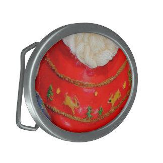 Piece of Santa Claus Christmas Dress Oval Belt Buckles