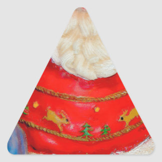 Piece of Santa Claus Christmas Dress Triangle Sticker