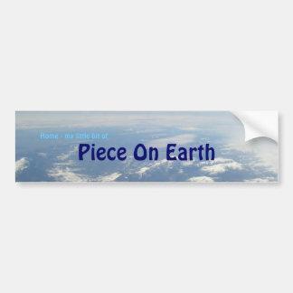 Piece On Earth Car Bumper Sticker