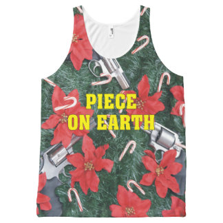 Piece On Earth Gun Ugly Christmas Sweater All-Over Print Singlet