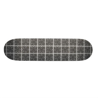 PiecedLayered BandW Skate Boards