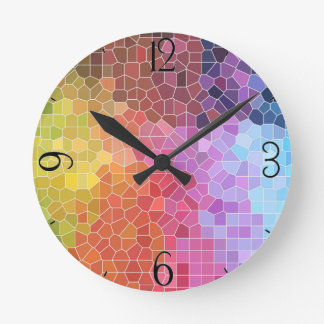 Pieces of Colour Round Clock