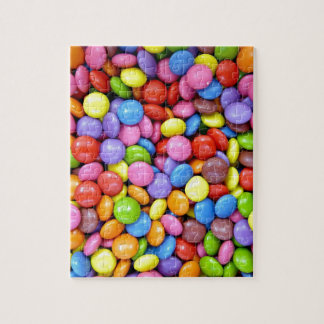 pieces of colourful candy puzzles