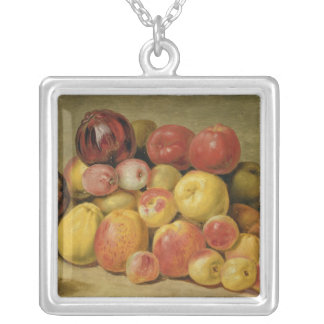 Pieces of Fruit Silver Plated Necklace