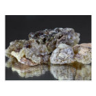 Pieces of natural frankincense resin on a mirror. postcard