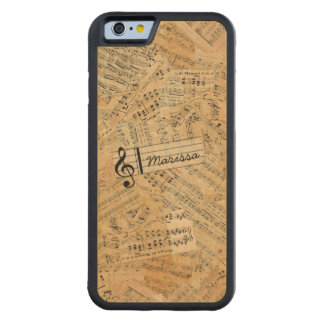 Pieces of Vintage Music ID389 Carved Maple iPhone 6 Bumper Case
