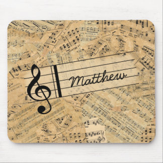 Pieces of Vintage Music ID389 Mouse Pad