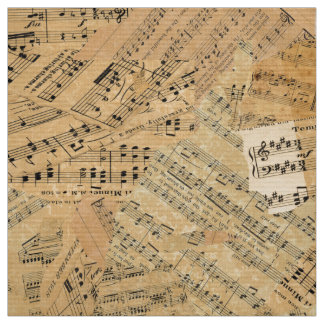 Pieces of Vintage Music POMV Fabric