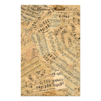 Pieces of Vintage Music POMVa Stationery Paper