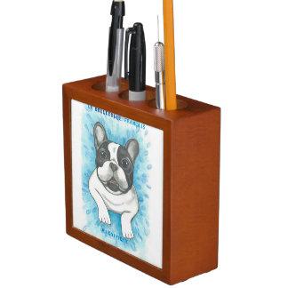 Pied French Bulldog desk organizer Desk Organiser