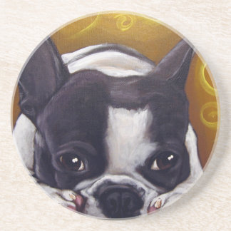 Pied Frenchie Nap Coaster