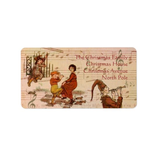 Pied Piper Collage Address Label