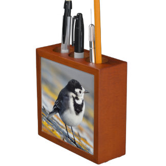 Pied Wagtail Desk Organiser