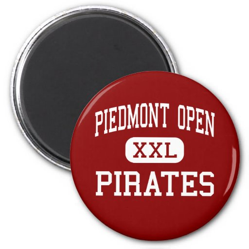 Piedmont Open - Pirates - Middle - Charlotte Fridge Magnets