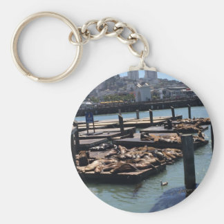 Pier 39 San Francisco California Basic Round Button Key Ring