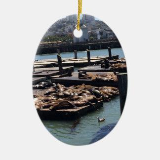 Pier 39 San Francisco California Ceramic Ornament