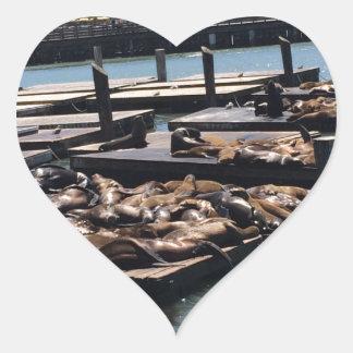 Pier 39 San Francisco California Heart Sticker