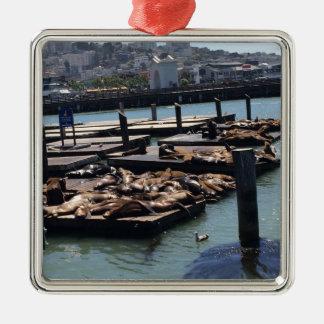 Pier 39 San Francisco California Metal Ornament