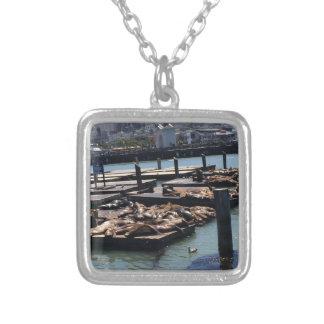 Pier 39 San Francisco California Silver Plated Necklace