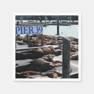 Pier 39 Sea Lions in San Francisco Disposable Serviette