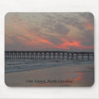 Pier and Sunset - Oak Island, NC Mouse Pad