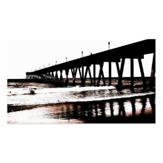 Pier and Surf in (mostly) Black and White Double-Sided Standard Business Cards (Pack Of 100)