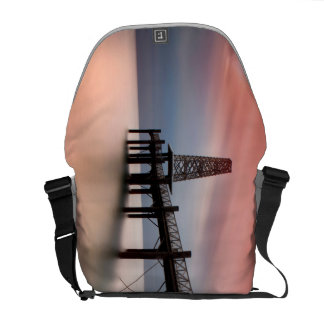 Pier at sunset courier bag