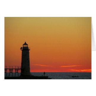 Pier at sunset on Lake Greeting Card
