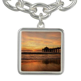 Pier beach sunset