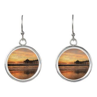 Pier beach sunset earrings