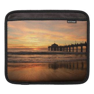 Pier beach sunset iPad sleeve