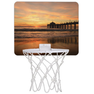 Pier beach sunset mini basketball hoop