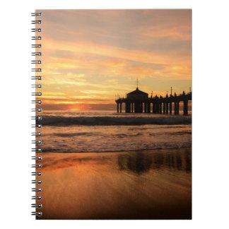 Pier beach sunset notebook