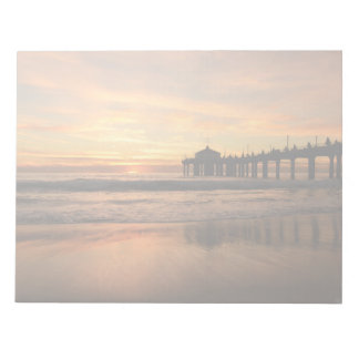 Pier beach sunset notepad