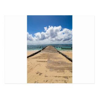 Pier into the ocean Saona Domenican Republic Postcard