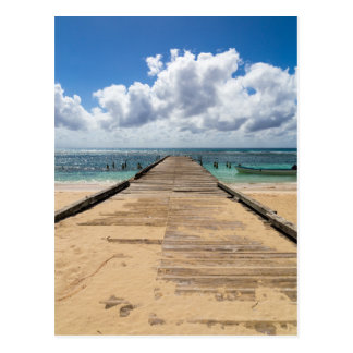 Pier into the ocean Saona Domenican Republic Postcard
