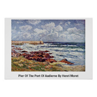 Pier Of The Port Of Audierne By Henri Moret Poster