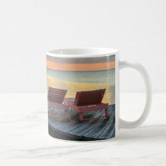 Pier overlooks the ocean, Belize Coffee Mug