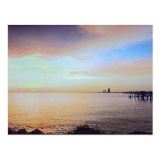 Pier Sunset Post Card