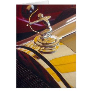 Pierce-Arrow archer radiator ornament Card