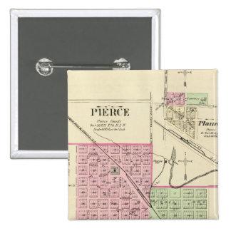Pierce Nebraska Pinback Buttons