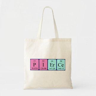 Pierce periodic table name tote bag