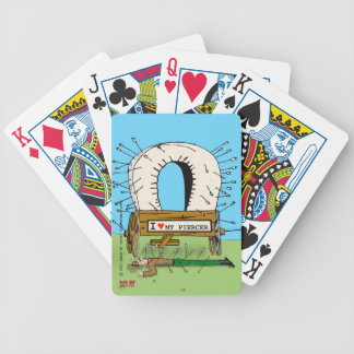 """""""Pierced"""" Bicycle Playing Cards"""