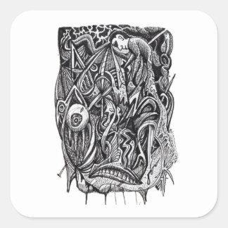 Pierced, by Brian Benson Square Sticker