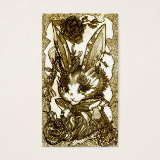 Pierced earring rabbit business card